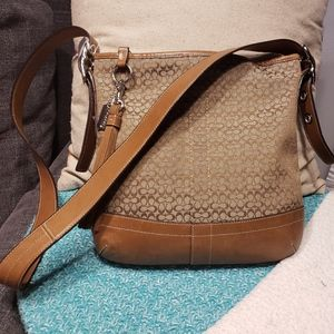 Coach Brown Crossbody with Leather Trim